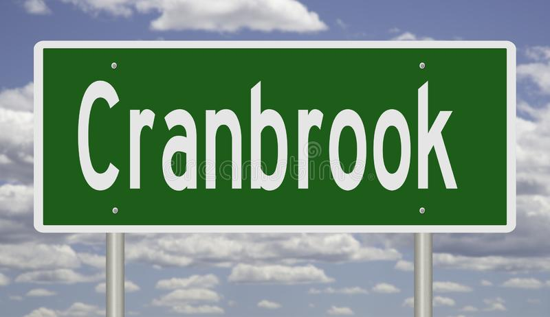 Segno della strada principale per la Columbia Britannica di Cranbrook immagini stock libere da diritti