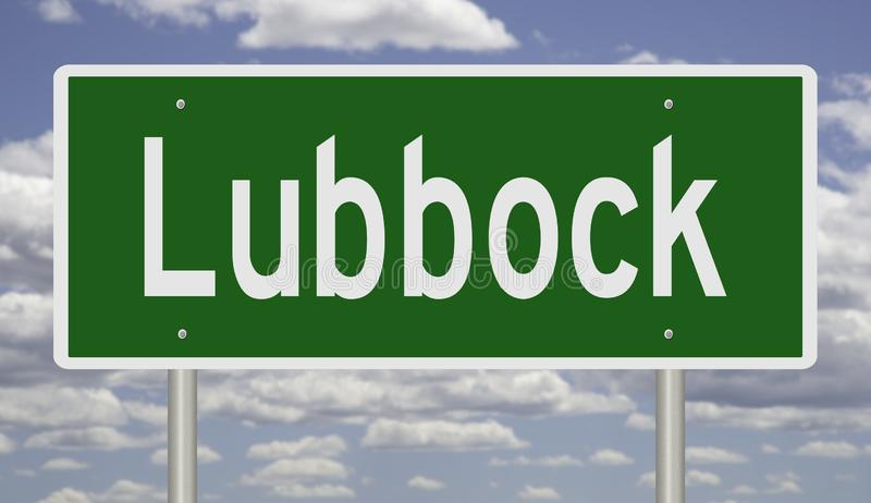 Segno della strada principale per Lubbock il Texas immagini stock