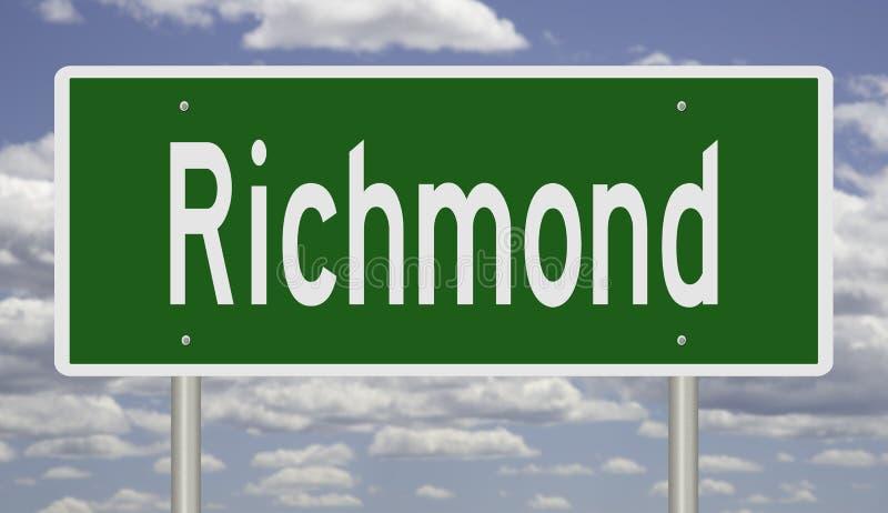 Segno della strada principale per Richmond fotografia stock