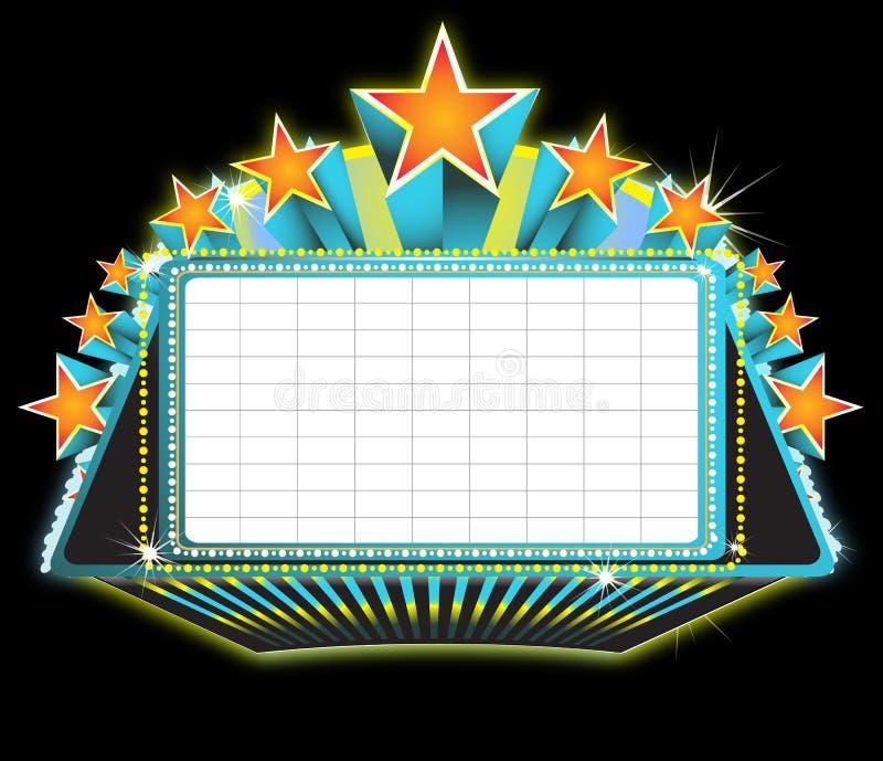 Segno della tenda foranea del teatro illustrazione vettoriale