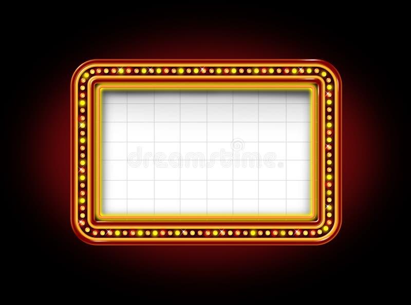 Segno della tenda foranea del teatro illustrazione di stock
