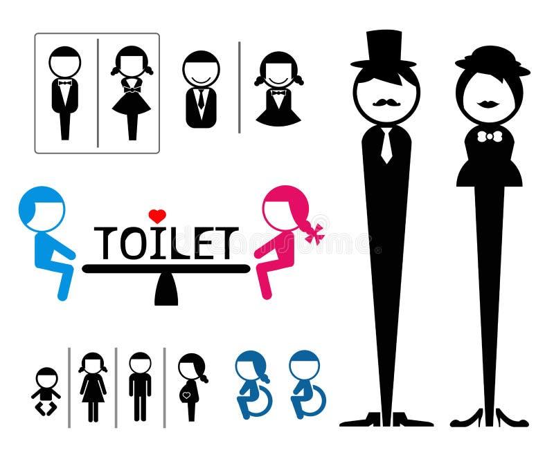 Segno della toilette  illustrazione di stock