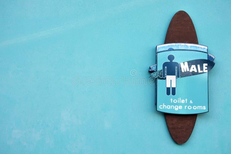 Segno della toilette dei maschi per maschio immagini stock