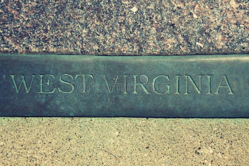 Segno della Virginia dell'Ovest immagini stock