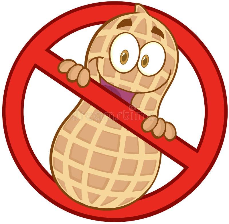 Segno delle arachidi di arresto del fumetto illustrazione vettoriale