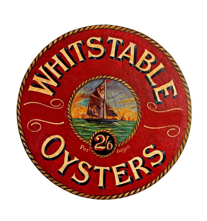 Segno delle ostriche di Whitstable fotografia stock