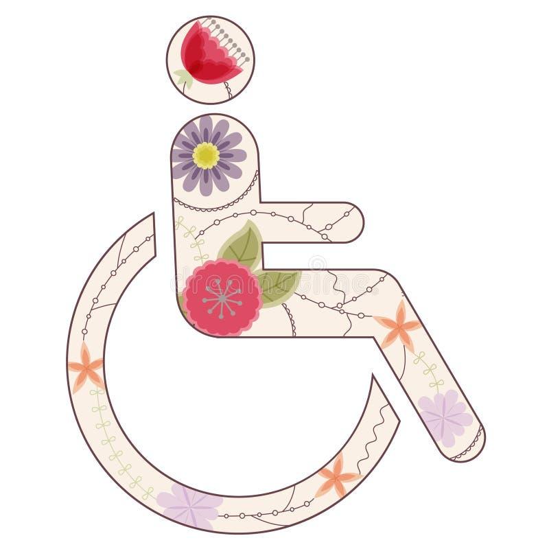 Segno delle persone con le inabilità d'annata illustrazione vettoriale