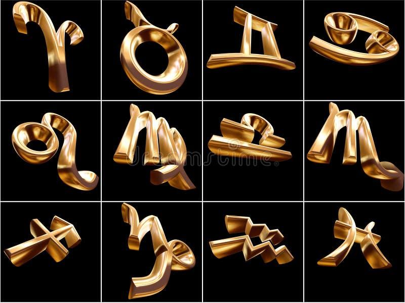 segno dello zodiaco 3D illustrazione vettoriale