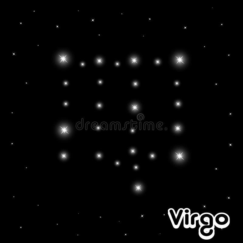 Download Segno dello zodiaco illustrazione vettoriale. Illustrazione di notte - 7306627