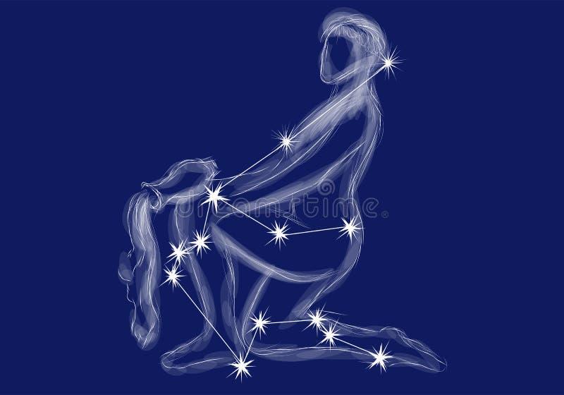 Segno dello zodiaco - acquario illustrazione di stock