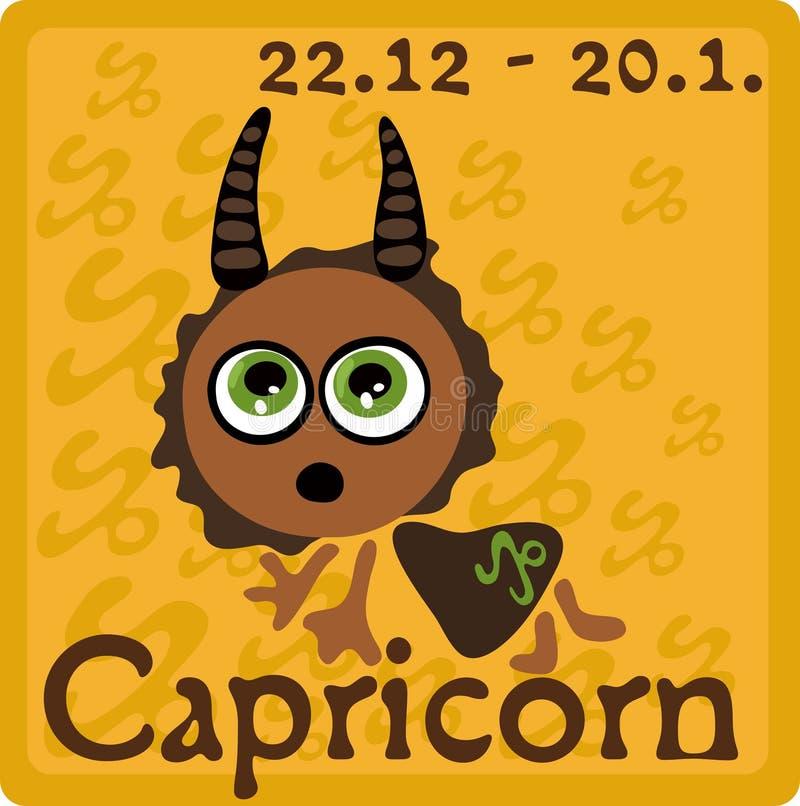 Segno dello zodiaco - Capricorn illustrazione vettoriale