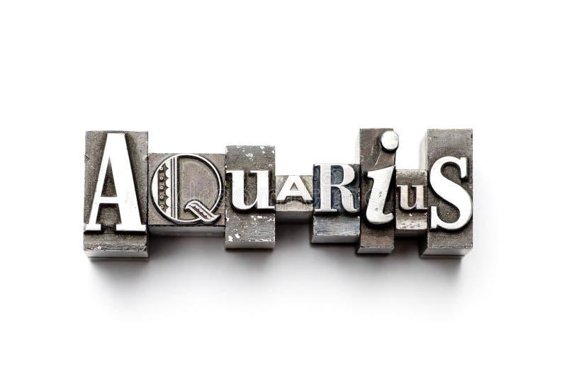 Segno dello zodiaco del Aquarius fotografia stock libera da diritti