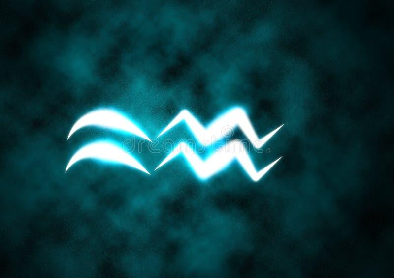 Segno dello zodiaco del Aquarius illustrazione di stock