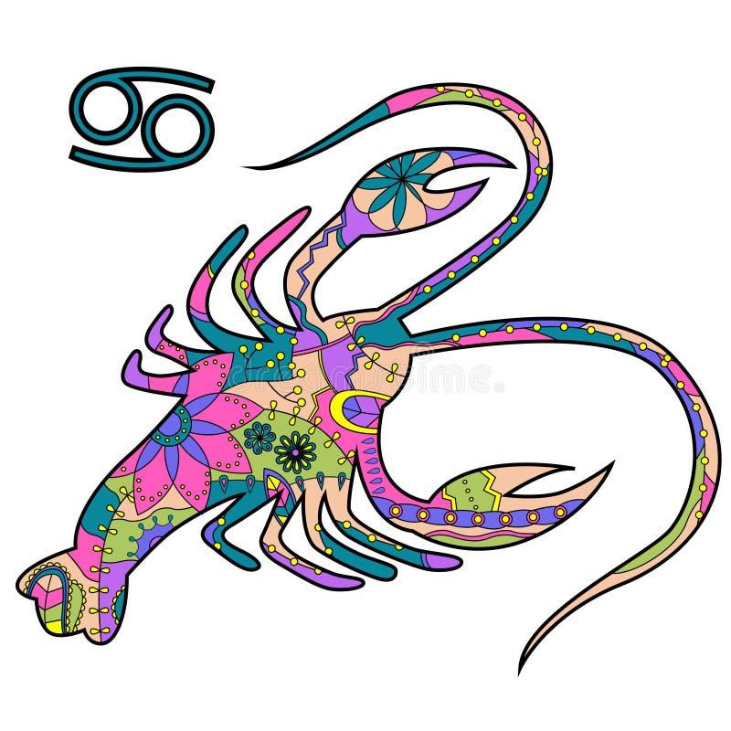 Segno dello zodiaco del Cancro royalty illustrazione gratis