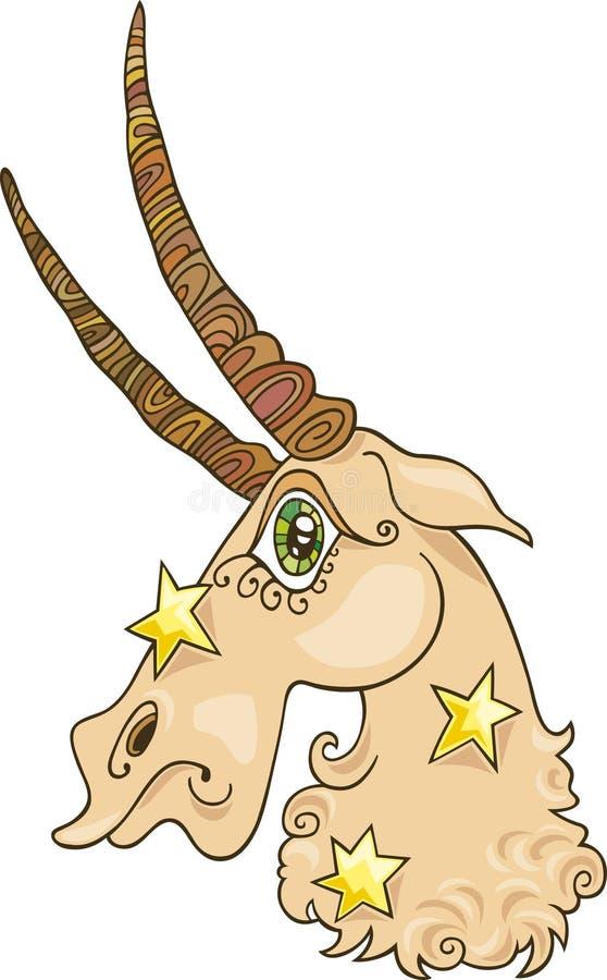 Segno dello zodiaco del Capricorn royalty illustrazione gratis