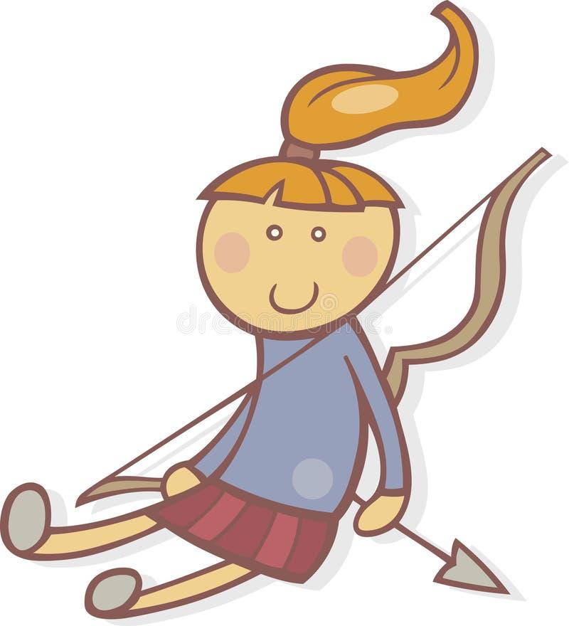 Download Segno Dello Zodiaco Del Sagittarius Illustrazione Vettoriale - Illustrazione di freccia, cute: 7314680
