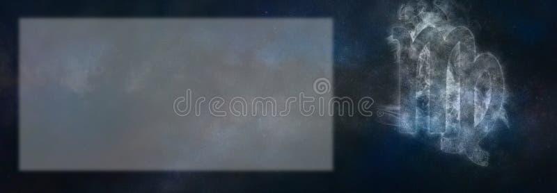 Segno dello zodiaco del Vergine Segno dell'oroscopo del Vergine Stanza del testo del modello fotografia stock