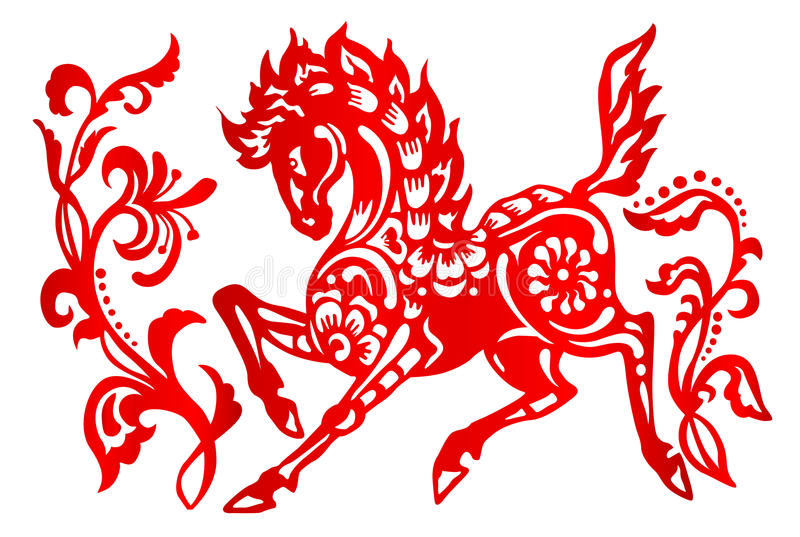 Segno dello zodiaco per l'anno di cavallo royalty illustrazione gratis