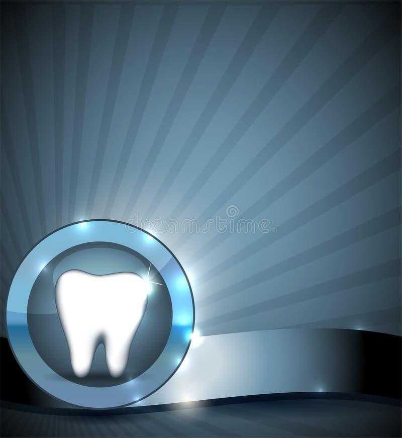 Segno dentario, progettazione dell'opuscolo illustrazione di stock