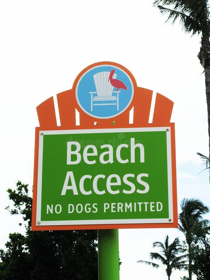 Segno di Access della spiaggia immagine stock