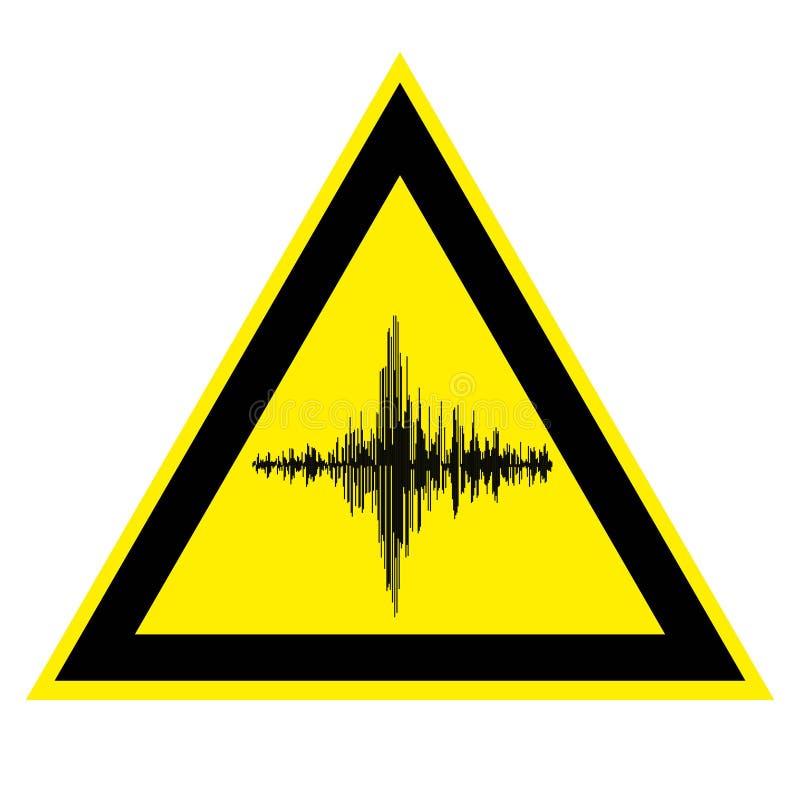 Segno di alto rumore e della vibrazione acustica royalty illustrazione gratis