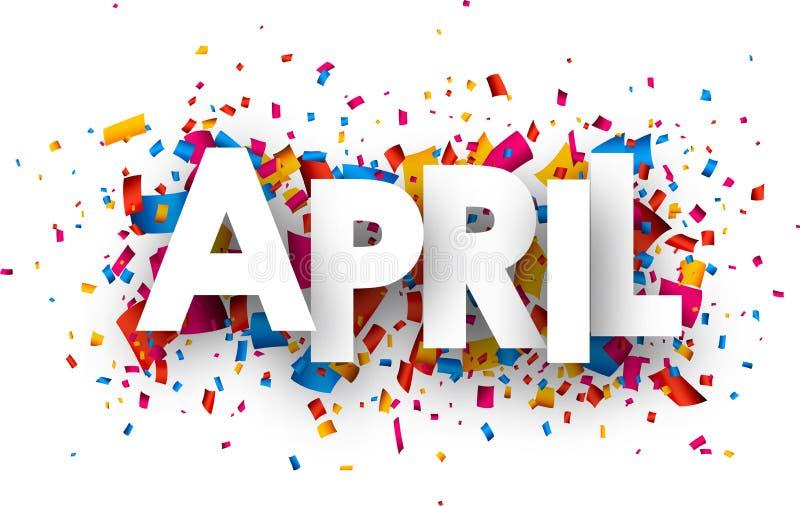 Segno di aprile illustrazione di stock