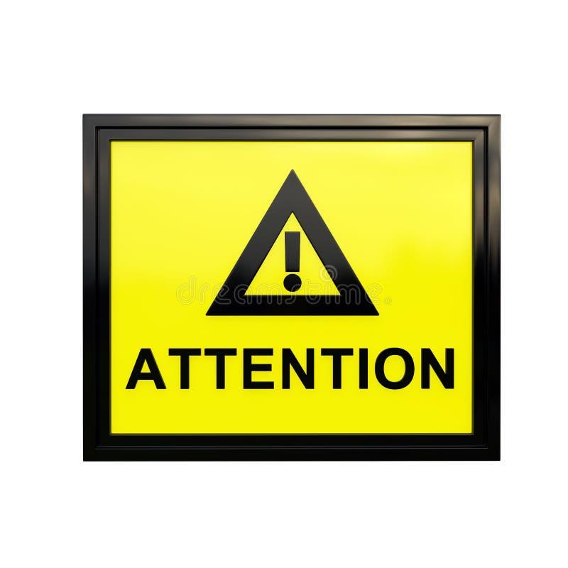 segno di attenzione 3D fotografie stock libere da diritti