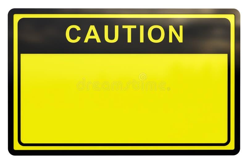 segno di avvertenza 3D immagini stock libere da diritti