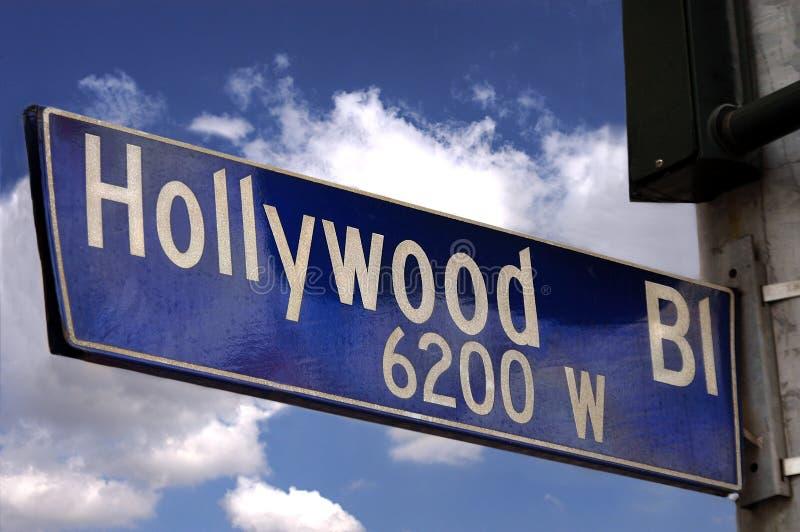 Segno di boulevard di Hollywood fotografia stock libera da diritti