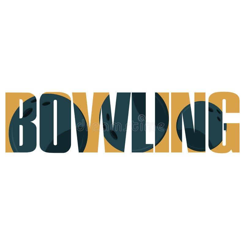 Segno di bowling illustrazione di stock