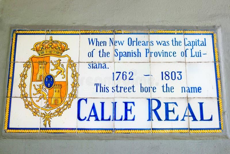 Segno di Calle Real fotografia stock