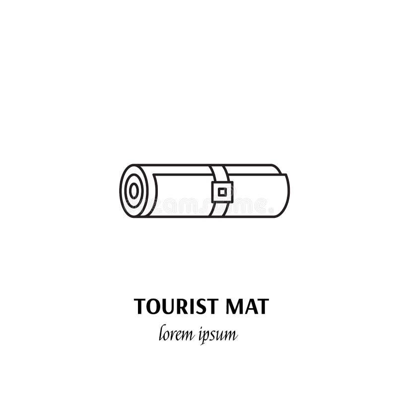 Segno di campeggio dell'icona del profilo di concetto di sport all'aperto di vettore illustrazione vettoriale