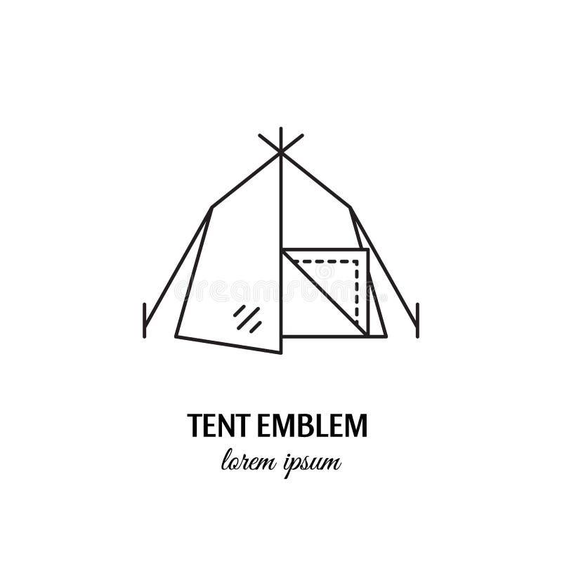 Segno di campeggio dell'icona del profilo di concetto di sport all'aperto di vettore royalty illustrazione gratis
