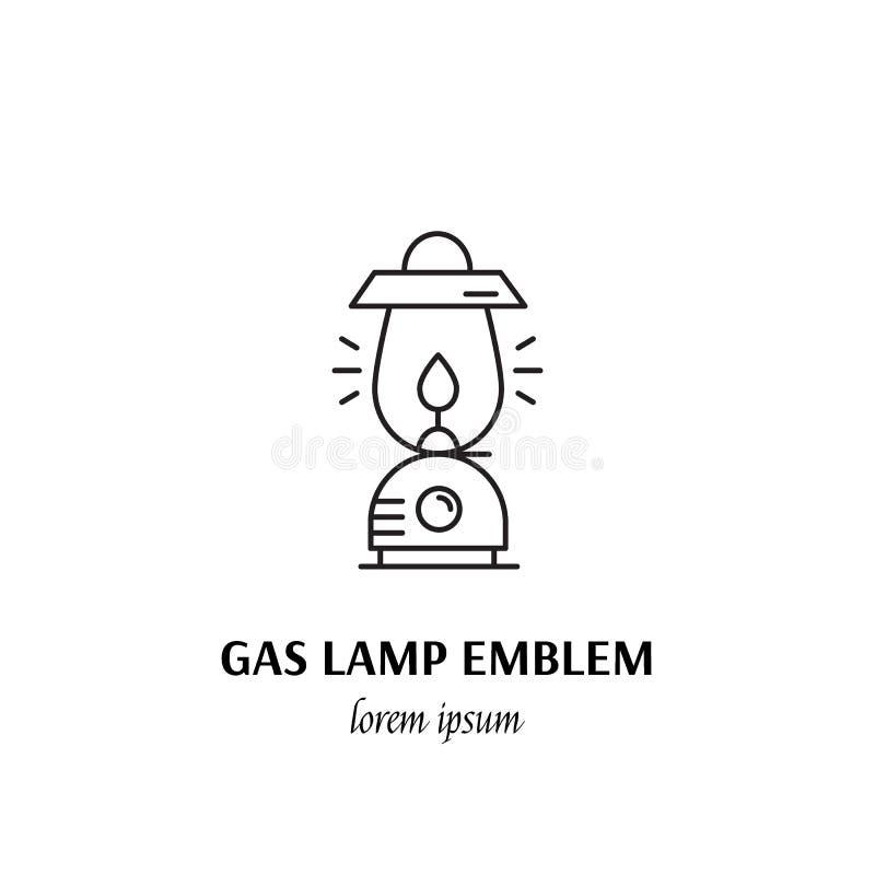 Segno di campeggio dell'icona del profilo di concetto di sport all'aperto di vettore illustrazione di stock