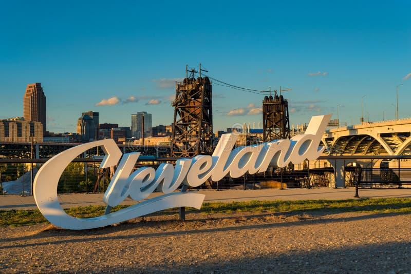Segno di Cleveland fotografia stock libera da diritti