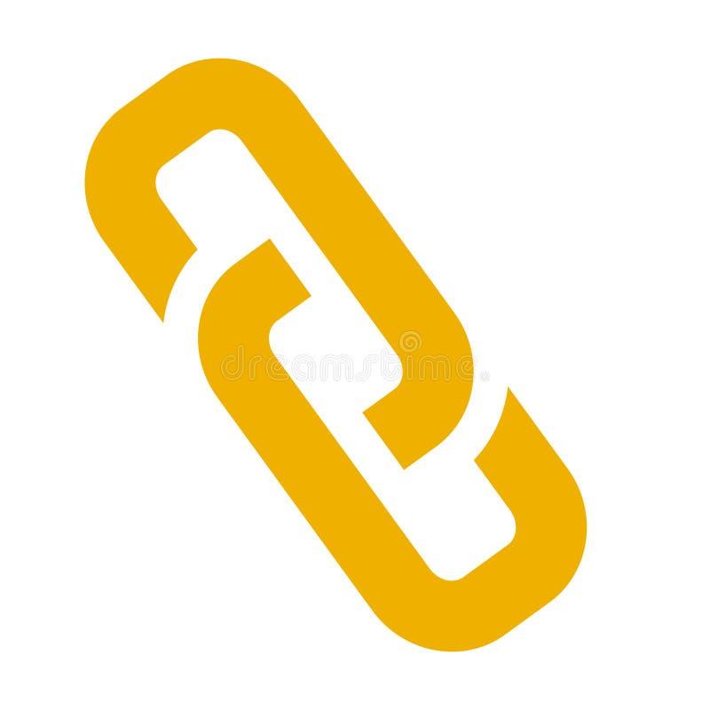 Segno di collegamento - simbolo della catena di vettore - icona del collegamento, secu di Internet royalty illustrazione gratis