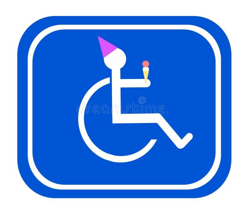 Segno di compleanno di handicap royalty illustrazione gratis