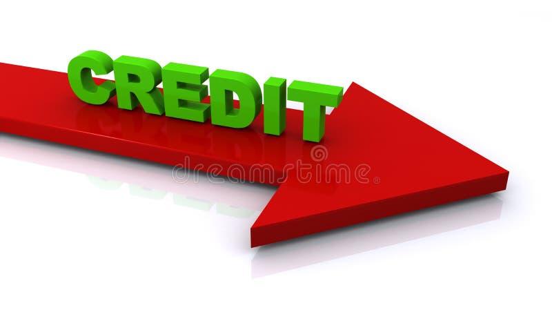 Segno di credito illustrazione di stock