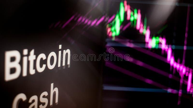 Segno di Cryptocurrency dei contanti di Bitcoin Il comportamento degli scambi di cryptocurrency, concetto Tecnologie finanziarie  illustrazione vettoriale