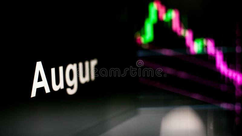 Segno di Cryptocurrency delle augure Il comportamento degli scambi di cryptocurrency, concetto Tecnologie finanziarie moderne immagini stock