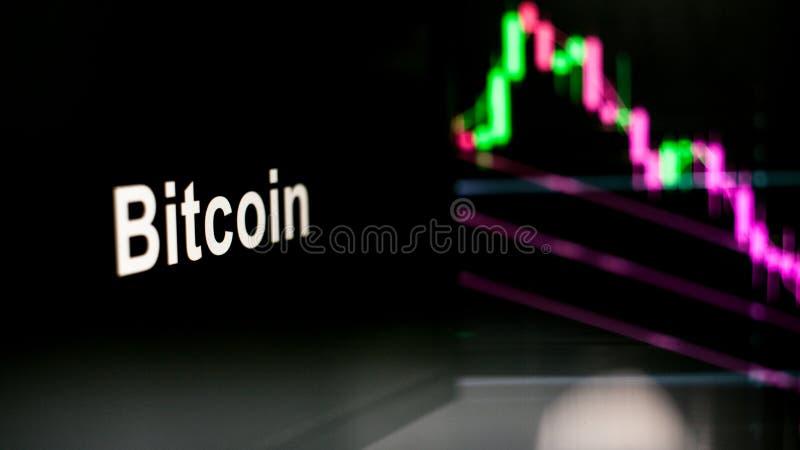 Segno di Cryptocurrency Il comportamento degli scambi di cryptocurrency, concetto Tecnologie finanziarie moderne immagine stock libera da diritti