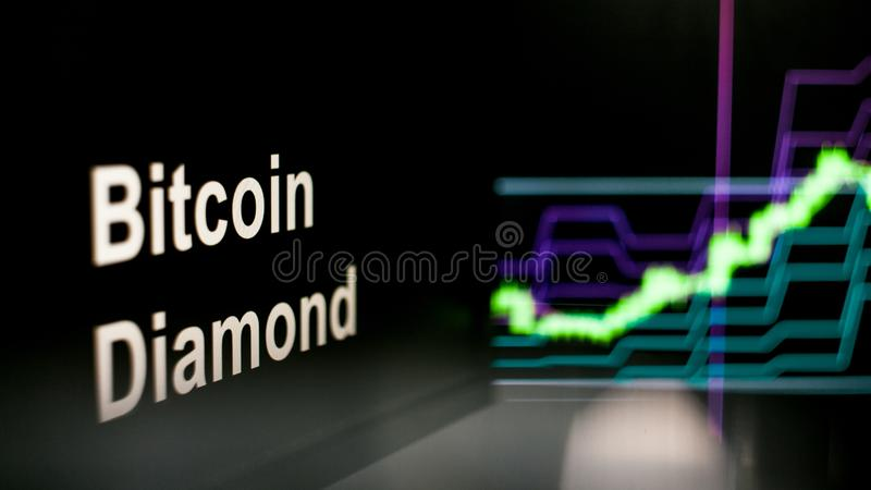 Segno di Cryptocurrency Il comportamento degli scambi di cryptocurrency, concetto Tecnologie finanziarie moderne immagini stock libere da diritti