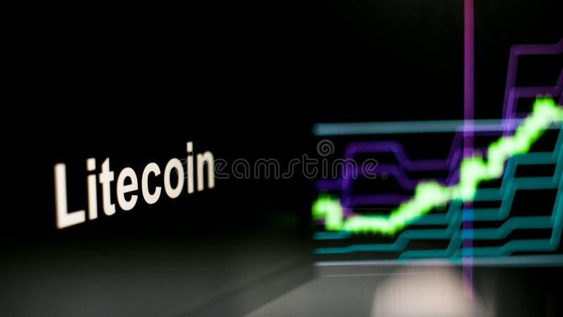 Segno di Cryptocurrency Il comportamento degli scambi di cryptocurrency, concetto Tecnologie finanziarie moderne fotografia stock