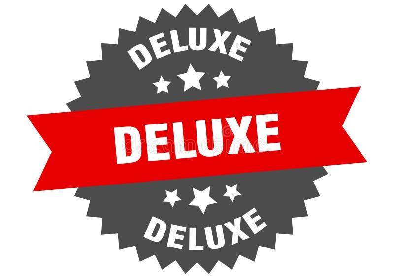 segno di deluxe etichetta di banda circolare deluxe adesivo di lusso illustrazione vettoriale