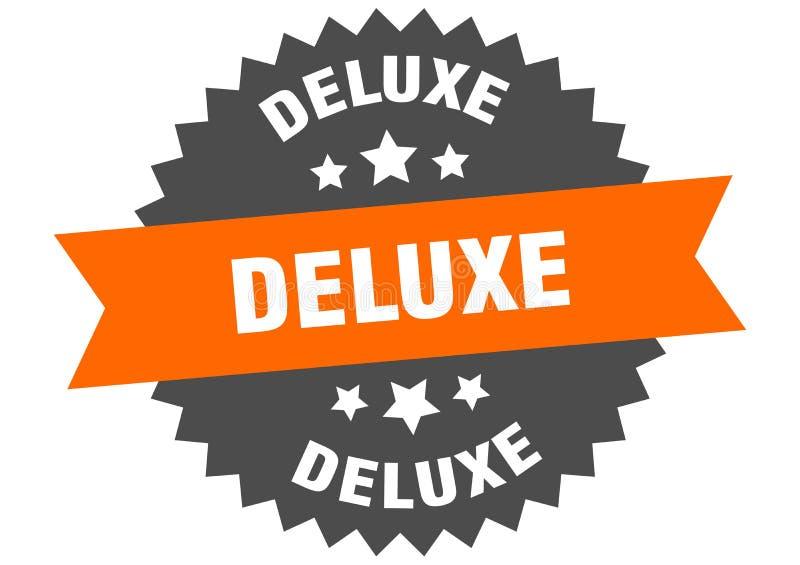 segno di deluxe etichetta di banda circolare deluxe adesivo di lusso illustrazione di stock