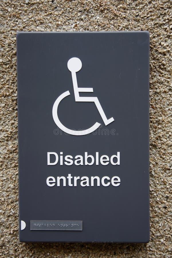 Segno di Disable fotografie stock libere da diritti