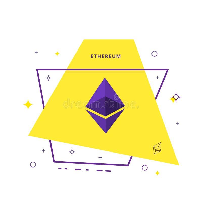 Segno di Ethereum Illustrazione di vettore illustrazione di stock