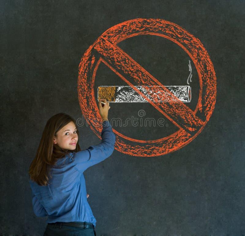 Segno di fumo della donna fotografie stock libere da diritti