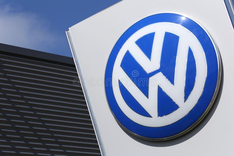 Segno di gestione commerciale di Volkswagen fotografia stock