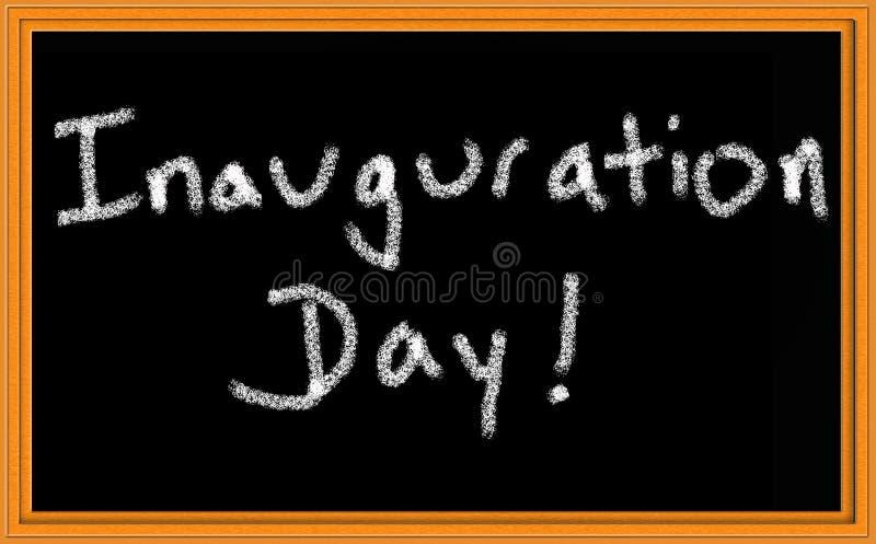 Segno di giorno di inaugurazione immagini stock